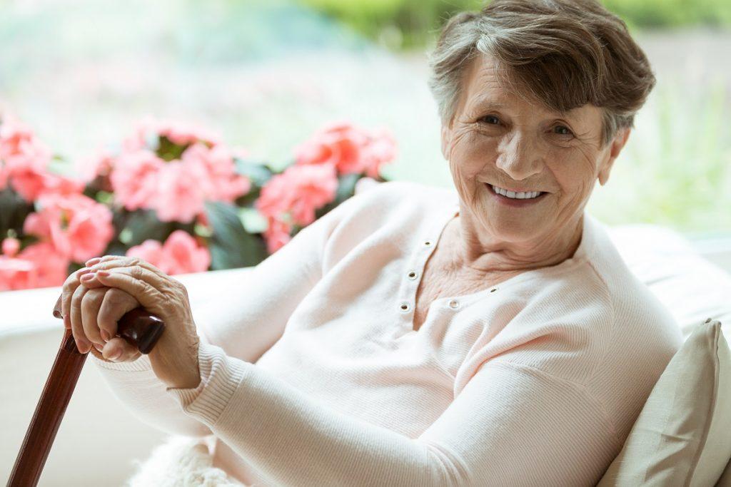 zaćma wikłająca - starsza kobieta